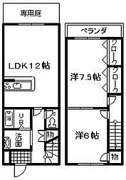 [テラスハウス] 大阪府泉佐野市鶴原 の賃貸【/】の間取り