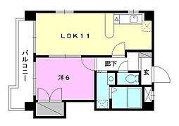 Kマンション No.6[301 号室号室]の間取り