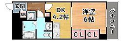 JR東海道・山陽本線 六甲道駅 徒歩5分の賃貸マンション 4階1DKの間取り