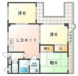 ロータリーマンション八雲西町[7階]の間取り