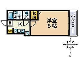 ルピナス西新[8階]の間取り