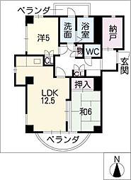 SMY88植田[3階]の間取り