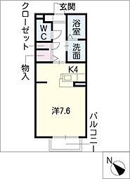 ドミール山田 A棟[2階]の間取り