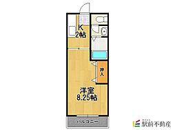 フレンディー平田原B棟[1階]の間取り