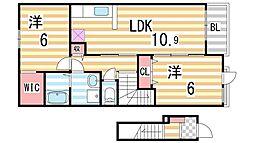 リエート 新田II[205号室]の間取り