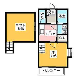 AIOガーデン宮前[1階]の間取り