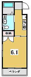 京都府京都市北区小山西大野町の賃貸マンションの間取り