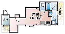 六甲ベイビューマンション[2階]の間取り
