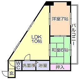 SKサンコ-諏訪野[405号室]の間取り