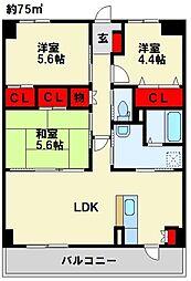 Livableなかま 3階3LDKの間取り