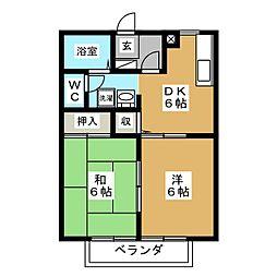 AXIV B[1階]の間取り