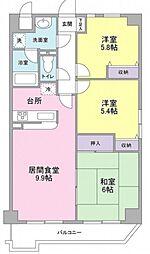 東京都大田区東六郷3丁目の賃貸マンションの間取り