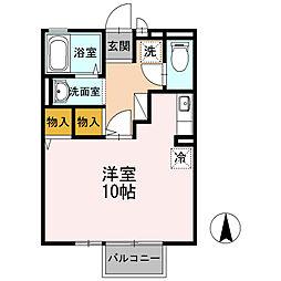 ロイヤルガーデン横尾 I[1階]の間取り