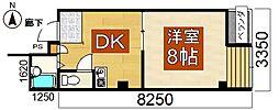荻田第6ビル3階Fの間取り画像