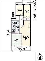 ソシアル清和新川[2階]の間取り