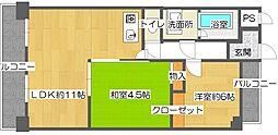 レオ住之江公園[5階]の間取り