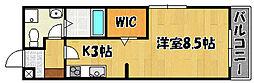 神鉄粟生線 緑が丘駅 徒歩17分の賃貸アパート 1階ワンルームの間取り