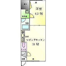Mハイツ中島1[206号室]の間取り