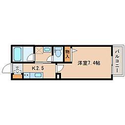 静岡鉄道静岡清水線 新清水駅 バス19分 東折戸下車 徒歩8分の賃貸アパート 2階1Kの間取り