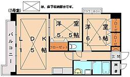 ルネスマンション サンライズ弐番館[6階]の間取り