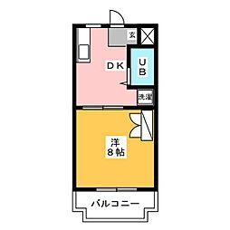 MANSION DIANA[4階]の間取り