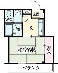 埼玉県春日部市一ノ割1丁目の賃貸マンションの間取り