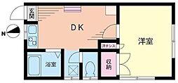 神奈川県川崎市高津区諏訪2丁目の賃貸アパートの間取り