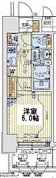 レオンコンフォート京橋EAST 10階1Kの間取り