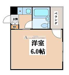 ジュネス八戸ノ里[3階]の間取り
