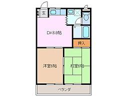 リベラル88[3階]の間取り