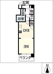 シティヴィラ中浜田[2階]の間取り