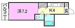 KBコート土居田2[301 号室号室]の間取り