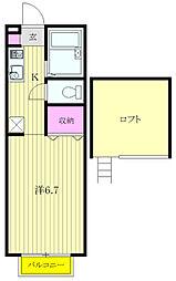 ハイムクレール[2階]の間取り