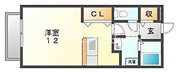 ハイツボナール1[2階]の間取り