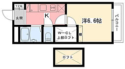 レオパレス甲子園[2階]の間取り