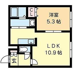 北海道札幌市中央区北九条西19丁目の賃貸マンションの間取り