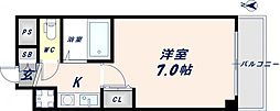 グランドオーク高井田[5階]の間取り