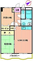HASHIMOTO GARDEN COURT[602号室]の間取り