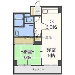 ビスタ麻生[6階]の間取り