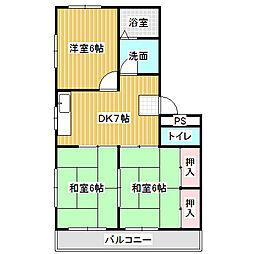 愛知県名古屋市港区小碓4の賃貸マンションの間取り