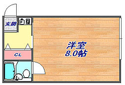 シティライフ桜ヶ丘[201号室]の間取り