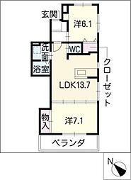 ムッターハウス[3階]の間取り