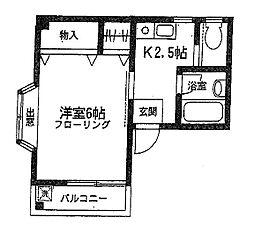 伊澤コーポ[2階]の間取り