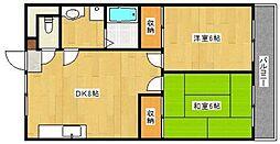 徳島県徳島市鷹匠町2丁目の賃貸マンションの間取り