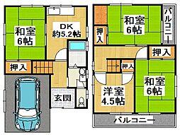 [一戸建] 大阪府堺市美原区太井 の賃貸【/】の間取り