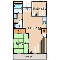 第2旭マンション[2階]の間取り