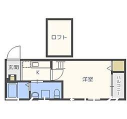福岡県福岡市博多区住吉5丁目の賃貸アパートの間取り