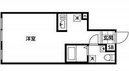 都営新宿線 曙橋駅 徒歩5分の賃貸マンション 1階ワンルームの間取り