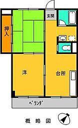 ハイツ横山[302号室]の間取り