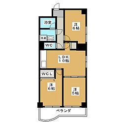 パラドール御所[5階]の間取り